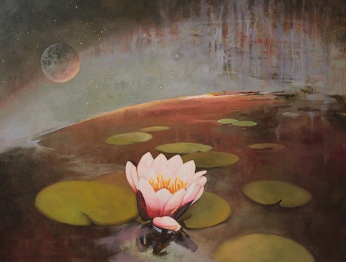 Crack_of_light_on_a_Lilly_Pond_by_Paul_DArcy