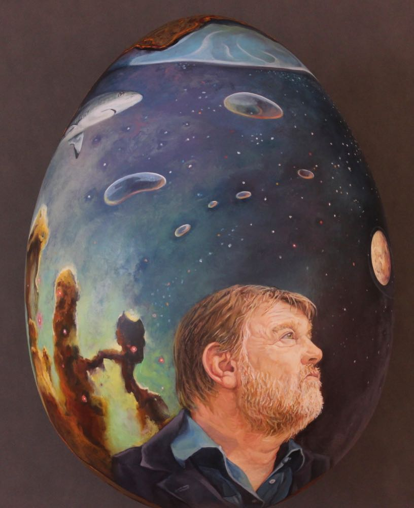portrait of actor brendan gleeson by artist paul d'arcy